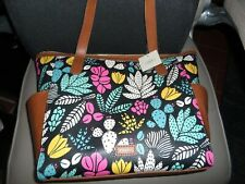 Fossil Mimi SHOPPER Tote Dark Floral SHB1909992 Handbag Purse