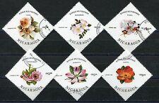 129 - Nicaragua - Flowers - Roses - Used Set