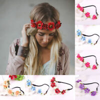 Fashion Women Girl Flower Head Hollow Elastic Hair Band Headband Wedding Party@