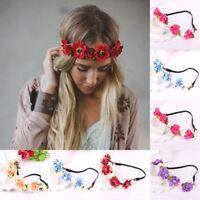 Fashion Women Girl Flower Head Hollow Elastic Hair Band Headband Wedding Party@