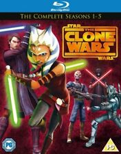 Star Wars The Clone Wars Complete Series Seasons 1 2 3 4 5 1-5 Bluray Region B