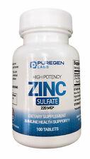 Puregen LABS Zinc Sulfate 220mg 100 Tablets