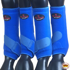 New listing 4 Pack Lrg Hilason Horse Medicine Sports Boots Front Rear Hind Leg