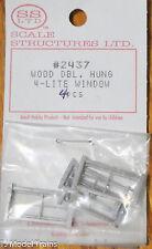 SS Ltd. HO #2437 Wood Dbl. Hung 4-Lite Window (4pcs.)