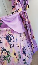 NEW YORK & COMPANY PURPLE FLORAL OPEN  MAXI DRESS SIZE M MSRP $89.95