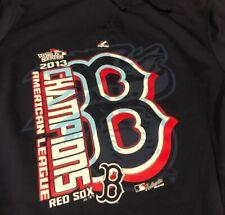 Boston Red Sox 2013 AL Champions Majestic Hoodie Medium Bullpen World Series
