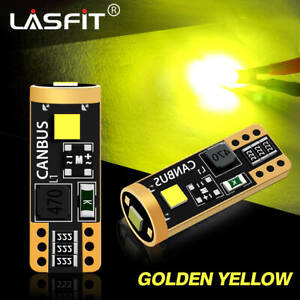 LASFIT Golden Yellow 194 168 2825 LED Side Marker Parking Light Bulbs Error Free