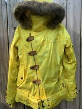 Oakley Ski Jacket Gretchen Bleiler Mane Yellow Large Offset Zipper Magnets