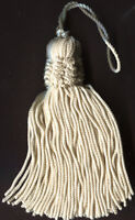 """3"""" IVORY CHAINETTE CROWN TASSELS LOT OF 12 TRIMMING"""