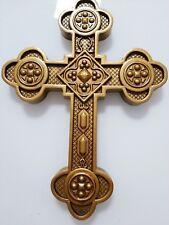 Byzantine Antiochian Carved Wooden Cross. Large. Wall cross. Orthodox.