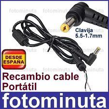 Recambio Cable Cargador Portatil Acer Aspire One 3.42A 1.58A 19V 5.5-1.7 3,42 de