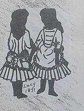 "Vintage Orig FRANKI'S Antique French Bebe or German  Doll   Pattern Lucy  9""-15"""