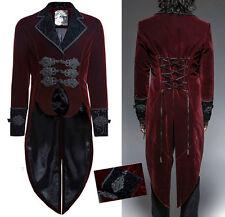 Manteau queue-de-pie velours brodé gothique baroque rétro corset PunkRave homme