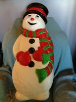 "VINTAGE CHRISTMAS 1990'S GRAND VENTURE 38"" SNOWMAN BLOW MOLD W/LIGHT CORD"