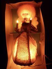 VINTAGE HEAVENLY ANGEL GE GENERAL ELECTRIC LIGHTED CHRISTMAS TREE TOP TOPPER