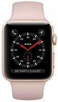Apple Watch Series 3 38 mm Gold Case Aluminium Pink Sport Band Smartwatch - Fair
