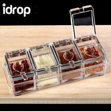 idrop Crystal Seasoning Rack Spice Pots Acrylic Seasoning Box Storage with Racks