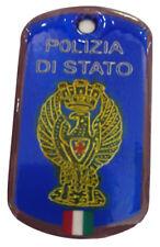 COLLANA PIASTRINA DISTINTIVO POLIZIA DI STATO PERSONALIZZATA