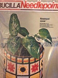 Bucilla Plastic Canvas Flowerpot Cover