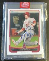 2019 Topps Archives Signature MIKE TROUT AUTO 2012 Bowman #34 RC Rookie 1/1