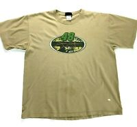 Mens Jimmie Johnson # 48 Racing T Shirt Beige Size XL