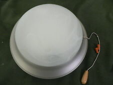 Ceiling Fan Light Kit in Satin Nickel with Swirl Frosted Glass Globe