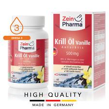 Krill Oil Vanilla Öl Vanille Aceite 500 mg (60 capsules) Cardio ZEINPHARMA