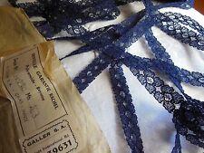 belle dentelle ancienne vintage bleu calais 5 mètres