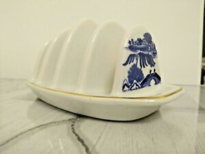 Ringtons Blue & White Willow Pattern Toast Rack by Wade