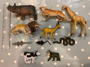 Bundle X 10 Plastic Toy Animals