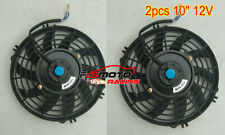 "2pcs 10"" inch 12V Universal Electric Radiator RACING COOLING Fan + mounting kit"