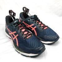 Asics Gel-Nimbus 18 Navy/Pink Womens Running Shoes Size 9.5 T650N EUC