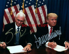 Donald Trump Mike Pence 8x10 Autographed Photo Picture signed