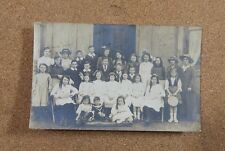 Edwardian mixed Group Children Adults Sunday Best Vintage fashion.   xc1