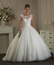 2017 New White/Ivory Wedding dress Bridal Gown Stock Size 4-6-8-10-12-14-16-16W