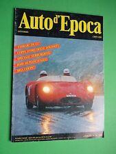 Auto d'Epoca Ottobre 1989 Ferrari 250 GT MGA coupè Coppa dolomiti MASERATI 150 S