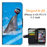 For iPhone 6 PLUS 5.5inch Wallet Flip Case Cover Dolphins Trick Y00784