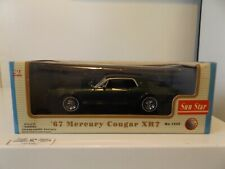 ORIGINAL SUN STAR MINT RARE GREEN 1967 MERCURY COUGAR on DISPLAY STAND w/ BOX