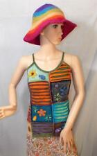 FAIR TRADE HIPPY BOHO ETHNIC FESTIVAL SUMMER STRAPPY COTTON VEST TOP S