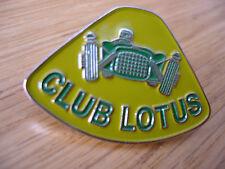 LOTUS CLUB LOTUS  ELAN ELITE RACING  CHROME ENAMEL LAPEL PIN CATERHAM SEVEN KIT