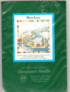 """BARGAIN!! Water Lilies  Counted Cross Stitch Kit Cleopatra's Needle 8"""" x 8"""" NEW!"""
