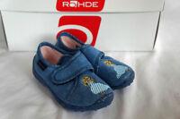 Rohde Schuhe Kinderhausschuhe Blau Prinzessin Gr. 23  Klettverschluß
