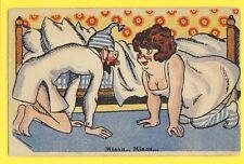 cpa Carte Postale Ancienne HUMOUR Old Postcard HUMOR MIAOU...MIAOU.....