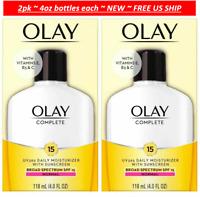 2pk OLAY Complete Daily Moisturizer + Vitamins E, B3, C +SPF 15 Normal Skin 4oz