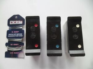 3 WYLEX REWIREABLE PUSH PLUG IN FUSE WIRE CARRIER 6 15 30 AMP FREE UK POST