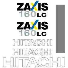 Hitachi ZX160 Decals Stickers  ZX160LC-3 New Repro Decal Kit
