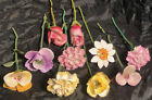 Lot+of+10+Vintage+Porcelain+Bone+China+Flowers+on+Stems