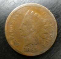 1865 Indian Head Cent IHP Penny Fancy Fine Good or Very Good VG Chocolate