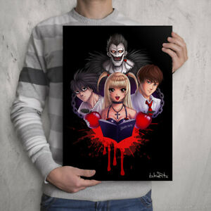DEATH NOTE SIGNED PRINT - Manga Artwork - Anime Poster Gift A3 Size Wall Art