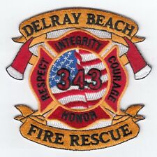 *NEW*  Delray Beach  Fire - Rescue, Florida  (Honor-Respect-Courage) fire patch